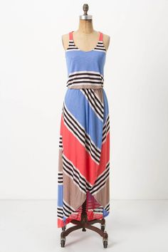 Another recently popular trend is the Maxi dress and skirt. Beginning in the Spring Maxi dresses and skirts have really become a high priority demand for all target markets. This picture from Athnropologie shows one of the many designs of Maxi dresses, they are very versatile and can be worn by many different groups of people for many different occasions. Paige Crowley