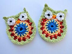 apliques buhos crochet - Buscar con Google
