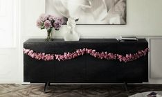 Spring Trends - Find the Perfect Buffet for your Modern Living Room Colorful Interior Design, Luxury Interior Design, Interior Design Inspiration, Luxury Furniture, Furniture Design, Black Sideboard, Sweet Home, Modern Lighting Design, Luxury Decor