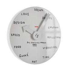 24h Sentence maker, Wall clock by marti guixe