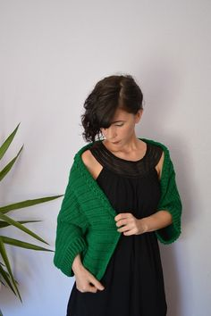 Crochet Cardigan Sweater. Plus Size Shrug by InoriCreations