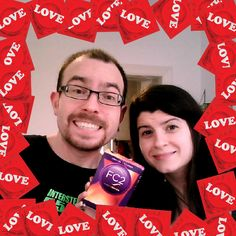 Our two editors flashing their #Condomlove this International #CondomDay. Photobooth your support for #safersex here http://webcam.lovecondoms.org/ #FC2