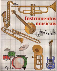 FREE CROSS POINT GRAPHICS: MUSICAL INSTRUMENTS (20)