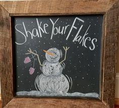 Chalkboard art Winter 2014-15