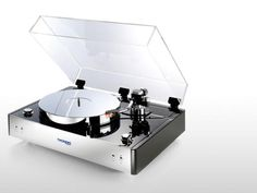 CD players may be a dying breed, but turntables aren& going away. We& rounded up some of the coolest looking turntables on the planet! Home Theater Receiver, Audio Room, Record Players, High End Audio, Hifi Audio, Phonograph, Vacuum Tube, Home Entertainment, Audio Equipment