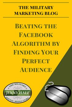 Learn how to beat the Facebook algorithm and how to market on Facebook correctly as a military spouse or veteran entrepreneur.  From the Military Marketing Blog at www.jennyhale.com, which focuses on teaching military community business owners how to market their military-focused business.