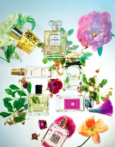 Beauty in Marie Claire Magazine NL I Photography by Frank Brandwijk   'Perfume Flower Bomb'