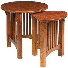 beautiful Mission style nesting tables