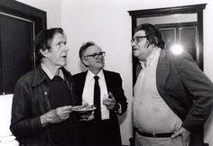 John Cage, Lejaren Hiller, and Morton Feldman (Photograph by Irene Haupt)