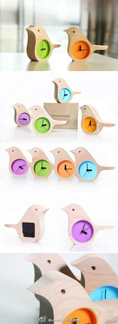 Really cute little bird clocks Más