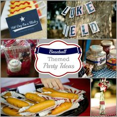 Baseball Themed Party Ideas compiled by PartiesforPennies.com