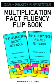Suprise your students with multiplication fact fluency flip books! #mathwithraven Properties Of Multiplication, Multiplication Strategies, Teaching Multiplication, Math Notebooks, Interactive Notebooks, Math Worksheets, Math Resources, Fluency Activities, Common Core Math Standards
