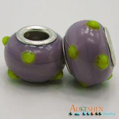 $1.39   Light Purple Lampwork Murano Glass Beads Silver Core Fit Bracelet http://www.eozy.com/light-purple-lampwork-murano-glass-beads-silver-core-fit-bracelet.html