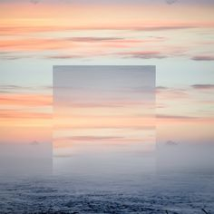 """New York based graphic designer and photographer Victoria Siemer aka Witchoria has created this photo manipulation series of landscapes entitled """"Geometric Reflections""""…"""