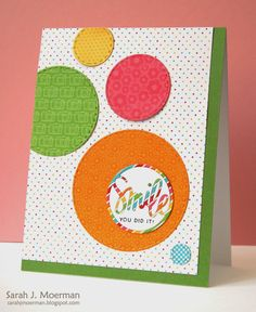 Awesome creation by Sarah using the June 2015 card kit by Simon Says Stamp.