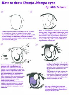 How to Draw Kawaii | How to draw a Shoujo-Manga eye---Mikitorial 1 by MikiSaitomi on ...