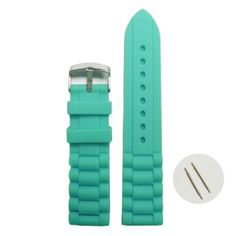20mm Trendy Cyan Silicone Jelly Rubber Ladies Men Watch Band Straps WB1002L20JB