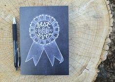 Chalkboard Art - Chalkboard Card - Chalk Art- Father's Day Card Chalkboard Card Best Dad Ever by Sugarbirdprints, $5.00