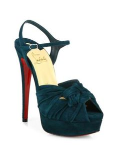 6c67172d182 Shop for Ionescadiva Knotted Suede Platform Sandals by Christian Louboutin  at ShopStyle.