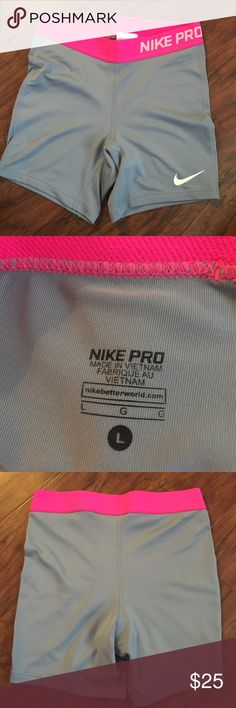 "NWOT NIKE PROS 4"" inseam, never been worn! Size L YOUTH but fit an XS in womens, I find them to be too long on me compared to an xs in last picture Nike Shorts"