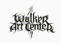 "The Walker Art Center ""metal"" version of its logo"
