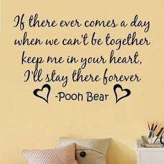 Awwww Pooh!! So sentimental!!