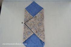 Come cucire un sacchetto origami in modo veloce – Cucire a Macchina Origami, Quilts, Blanket, Rugs, 3, Home Decor, Handmade Handbags, Tote Purse, Pouch Bag