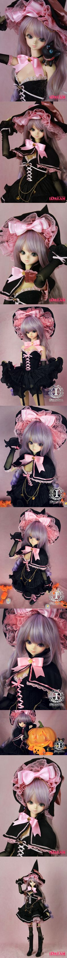 BJD Clothes【Black Cat】 Witches Suit for SD/MSD Ball-jointed Doll_SD_SD_CLOTHING_Ball Jointed Dolls (BJD) company-Legenddoll