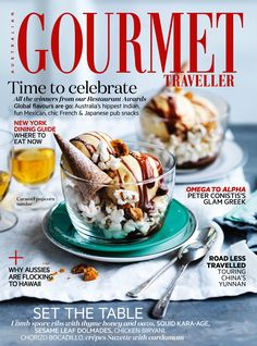Australian Gourmet Traveller Magazine, September 2013 (searchable index of recipes) Popcorn Ice Cream, Butter Popcorn, Slow Roast Lamb, Peanut Brittle, Waffle Cones, Pastry Brushes, Caramel Recipes, Recipe Search, Tray Bakes