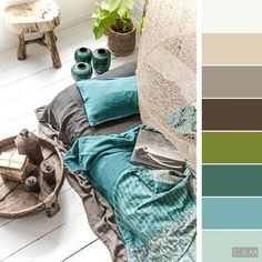 Charcoal and teal for the boys' bath color palettes to inspire en 2019 Bedroom Color Schemes, Colour Schemes, Color Combinations, Room Colors, House Colors, Paint Colors, Colours, Apartment Inspiration, Colour Pallette