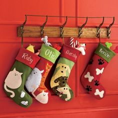 Holiday Pet Stockings Pet Christmas Stockings, Pet Stockings, Christmas Cats, Merry Christmas, Christmas Sewing, Christmas Projects, Christmas Ideas, Christmas Stationery, Cat Pattern