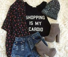 Shopping is our cardio, too :)