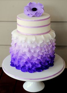 - Purple Petal Cake originally posted by Meazley's on cake central.com