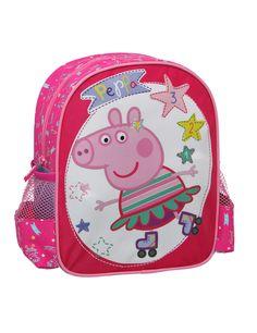 Mochila Peppa Pig™: Esta mochila tiene licencia oficialPeppa Pig™.Es de tela rosa con dibujos dePeppa Pig™.Se cierra con…