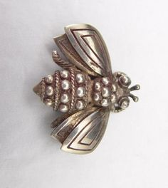 TIFFANY & CO STERLING BUMBLE BEE BROOCH PIN