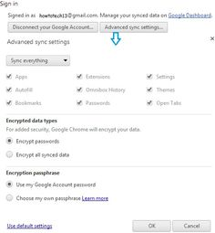 How to sync data using Chrome - I use Google Chrome at home, on my android device, at office. I login to different machines and all that I do is sync data using Chrome. Recently, I had to upgrade my office laptop with the latest operating system and it was not a pain for me to export all my book marks or passwords, all the apps that I had installed from Chrome store.