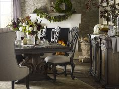 Entertain in casual elegance this holiday with the Rhapsody Collection from Hooker Furniture.