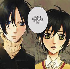 Yoite and Miharu ||| Nabari no Ou Chapter 27 ||| Colored Manga by akashizaya on Tumblr