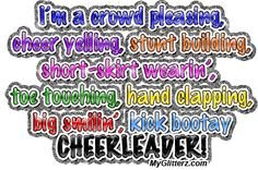 Cheer quotes | MYGLITTERZ | Cheerleading Quote Comments