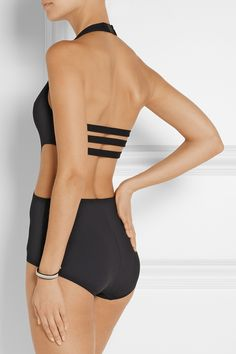 Proenza Schouler|Cutout halterneck swimsuit|NET-A-PORTER.COM