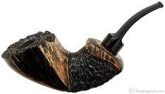 Winslow Crown Partially Rusticated Freehand Sitter (Viking) Pipes at Smoking Pipes .com