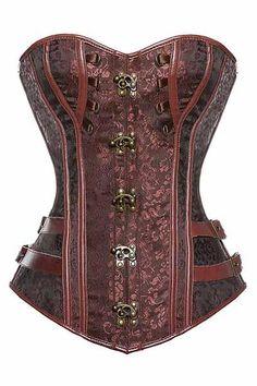 Vintage Gothic Overbust Steel Boned Corsets Underkläder 12b5624250928