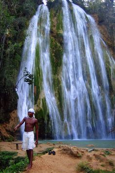 Boy By Waterfall | Dominican