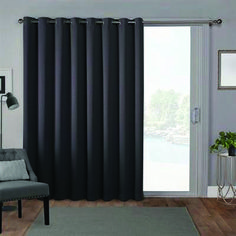 Exclusive Home Curtains 1 Pack Sateen Blackout Wide Patio Grommet Top Single Curtain Panel, Gray Patio Door Curtains, Wide Curtains, Colorful Curtains, Patio Doors, Blackout Curtains, Country Curtains, Bedroom Curtains, Blackout Windows, Ideas