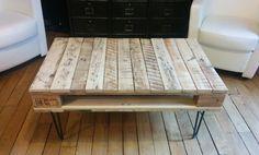 Table basse en bois de palette by Géraldine #DIY