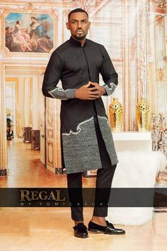 mens_fashion - Nigerian Fashion Brand Yomi Casual Releases Latest 2018 Look Book Themed Regal African Dresses Men, African Attire For Men, African Clothing For Men, African Shirts, African Wear, African Women, African Clothes, African Style, Nigerian Clothing