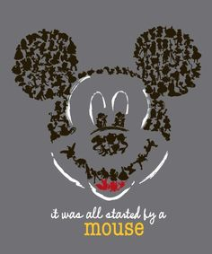 It was all started by a mouse! I want to frame this in Noelles room.