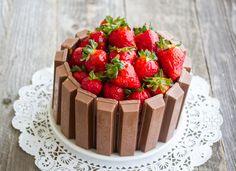 Yes, that is a Kit Kat Cake.   Kit Kat Cake | Kirbie's Cravings | A San Diego food blog