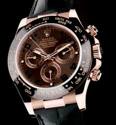 Rolex Daytona Ref. 116516LN; featuring a 40mm everose gold Rolex Oyster case. BIG WANT!