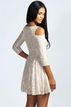 Amelia Lurex Foil Dress